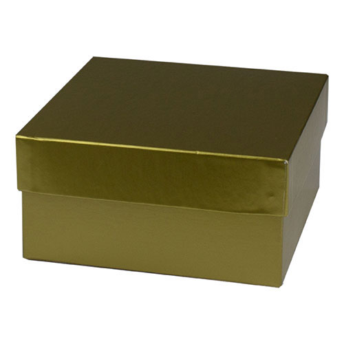 6 x 6 x 3 GOLD HI-WALL GIFT BOX BASES