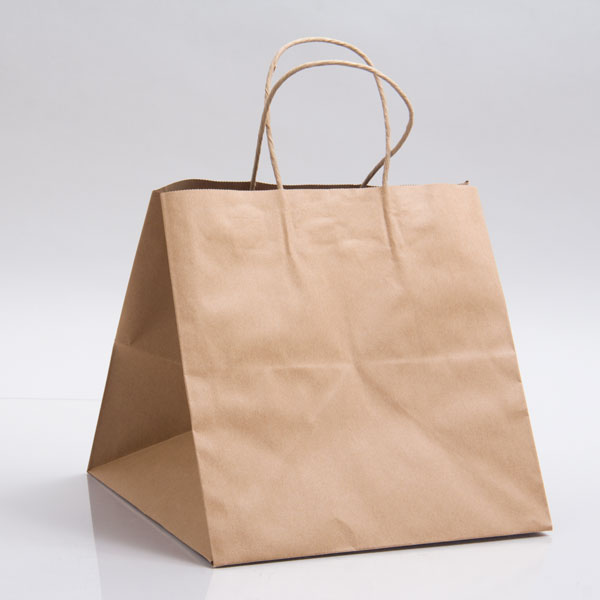 10 x 10 x 10 NATURAL KRAFT PAPER SHOPPING BAGS - 100% RECYCLED