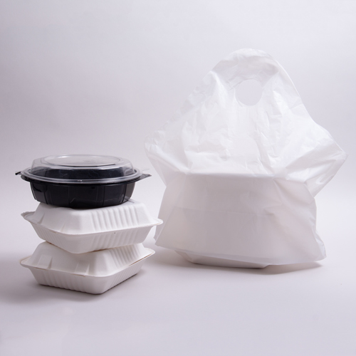 21 x 18 x 10 WHITE WAVETOP PLASTIC CARRYOUT BAGS