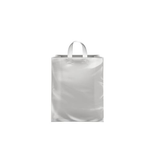 8x5x10 Clear Frosted Loop-Handle Plastic Bags 80aaeeee475f3