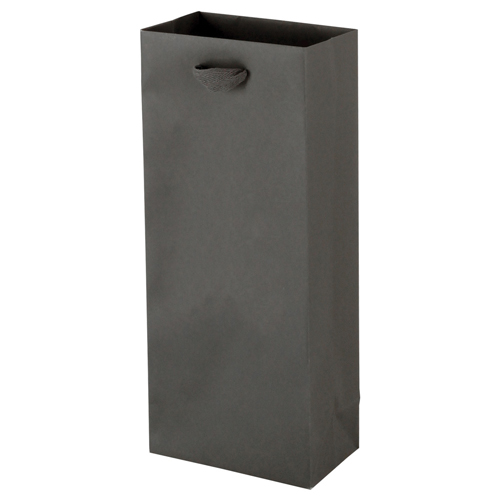 5.5 x 3.5 x 13 MATTE CHARCOAL TINTED PAPER EUROTOTES