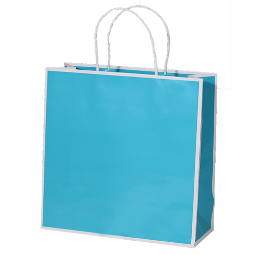 10 x 4 x 10 BAY BLUE PAPER SHOPPING BAGS