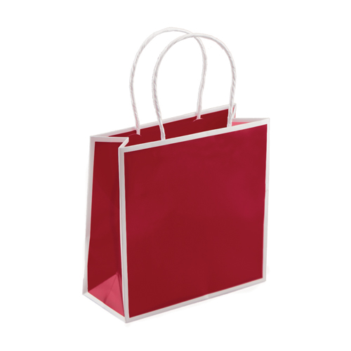 7 x 3 x 7 RED PAPER SHOPPING BAGS