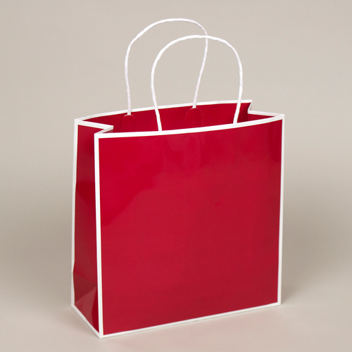 10 x 4 x 10 RED PAPER SHOPPING BAGS