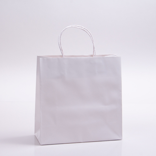 10 x 4 x 10 WHITE PAPER SHOPPING BAGS