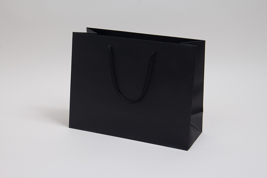 13 x 5 x 10 MATTE BLACK EUROTOTE SHOPPING BAGS