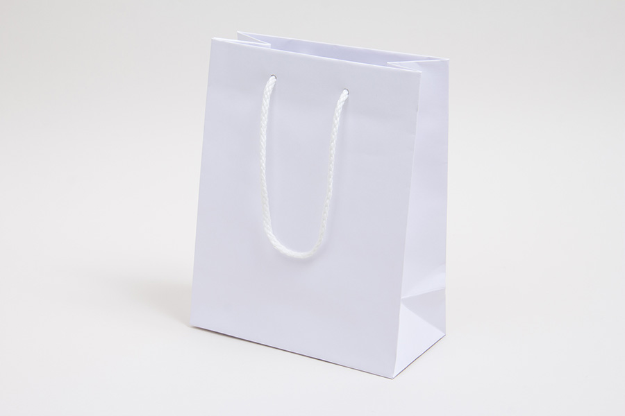 8 x 4 x 10 WHITE KRAFT EUROTOTE SHOPPING BAGS
