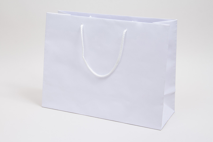 16 x 6 x 12 WHITE KRAFT EUROTOTE SHOPPING BAGS