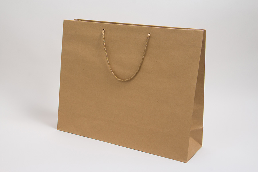20 x 6 x 16 NATURAL KRAFT EUROTOTE SHOPPING BAGS
