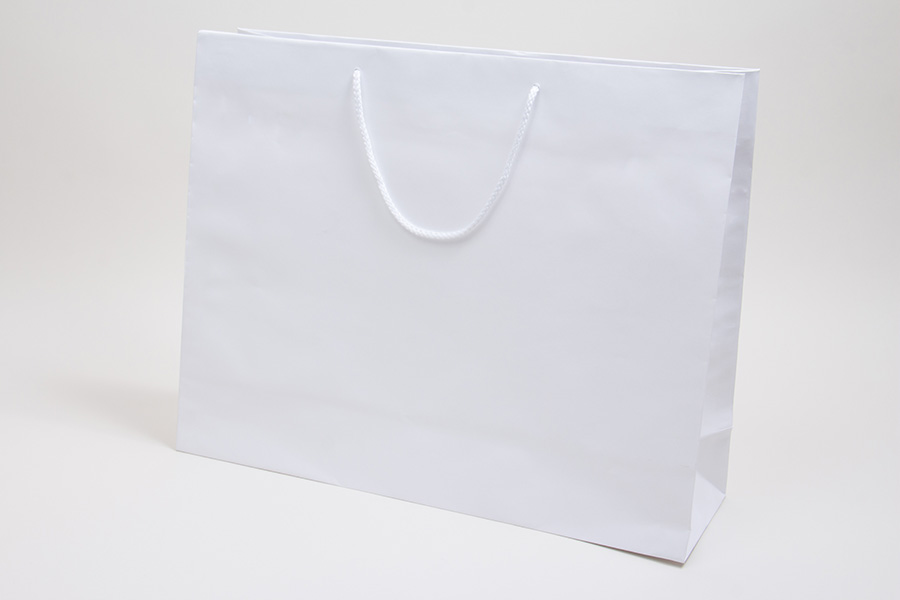 20 x 6 x 16 WHITE KRAFT EUROTOTE SHOPPING BAGS