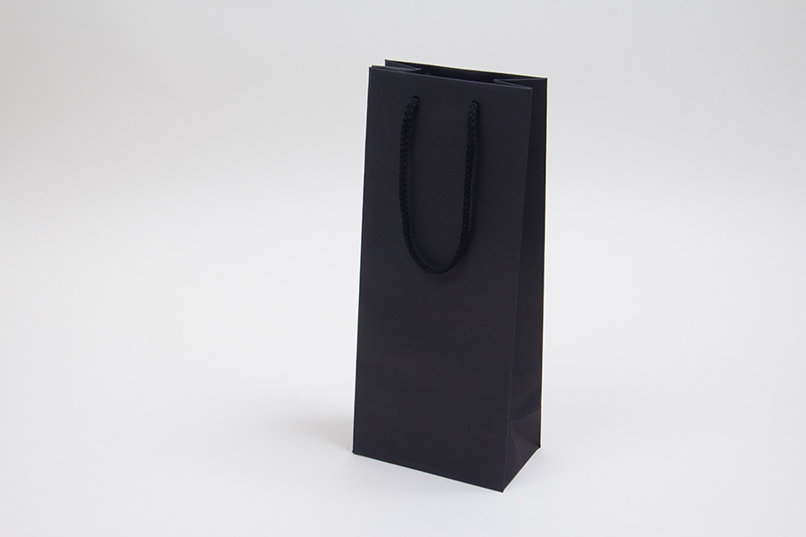 5 x 3.5 x 13 BLACK TEXTURED EUROTOTE SHOPPING BAGS