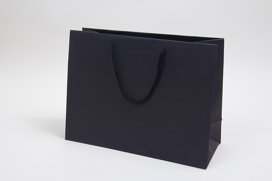 13 x 5 x 10 BLACK TEXTURED EUROTOTE SHOPPING BAGS