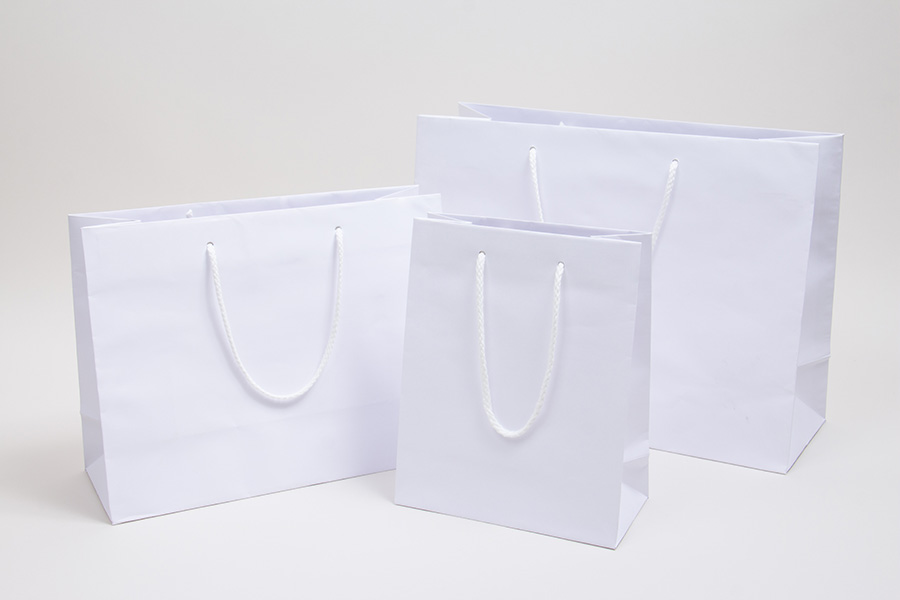 MC - Eurotote Shopping Bags - White Kraft