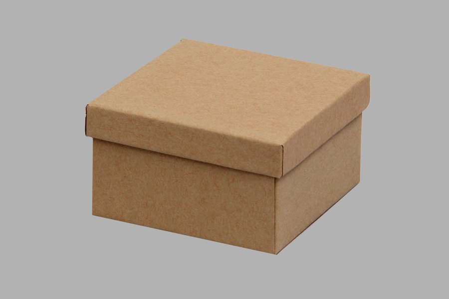 (#34) 3-1/2 x 3-1/2 x 2  NATURAL KRAFT JEWELRY BOXES