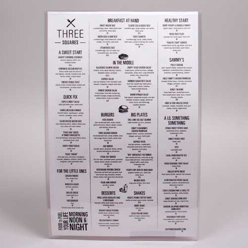 11 x 17 CLEAR VINYL MENU SLEEVES W/ INSERTS