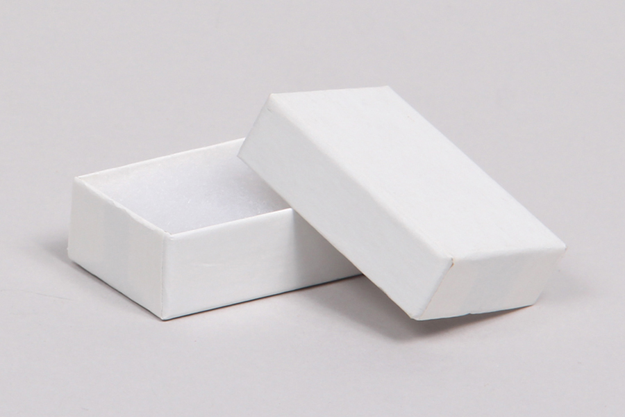 (#21) 2-1/2 x 1-1/2 x 7/8 WHITE GLOSS JEWELRY BOXES
