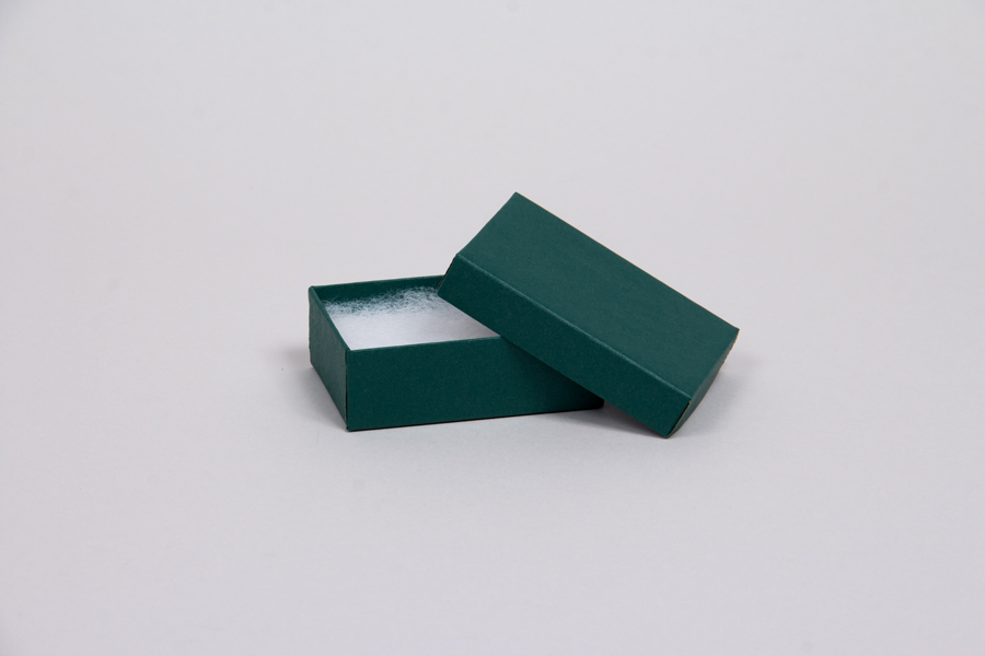 (#11) 1-3/4 x 1-1/8 x 5/8 MATTE DEEP GREEN JEWELRY BOXES