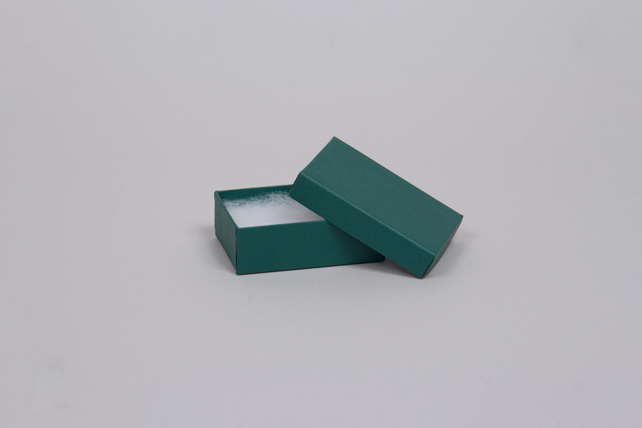 (#21) 2-1/2 x 1-1/2 x 7/8 MATTE TEAL JEWELRY BOXES