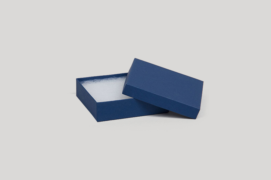 (#21) 2-1/2 x 1-1/2 x 7/8 MATTE NAVY BLUE JEWELRY BOXES
