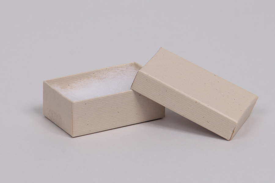 (#21) 2-1/2 x 1-1/2 x 7/8 OATMEAL GROOVE JEWELRY BOXES