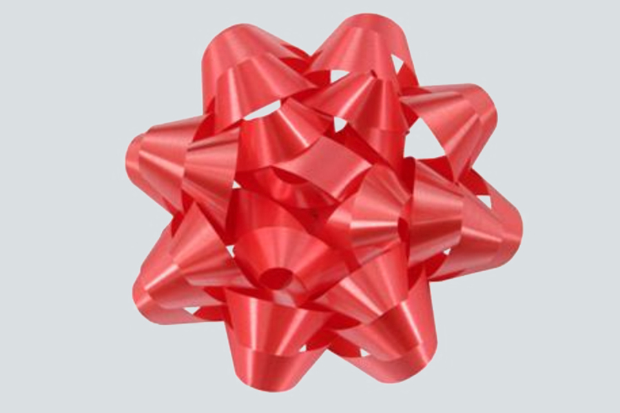 4.25 RED CONFETTI BOWS