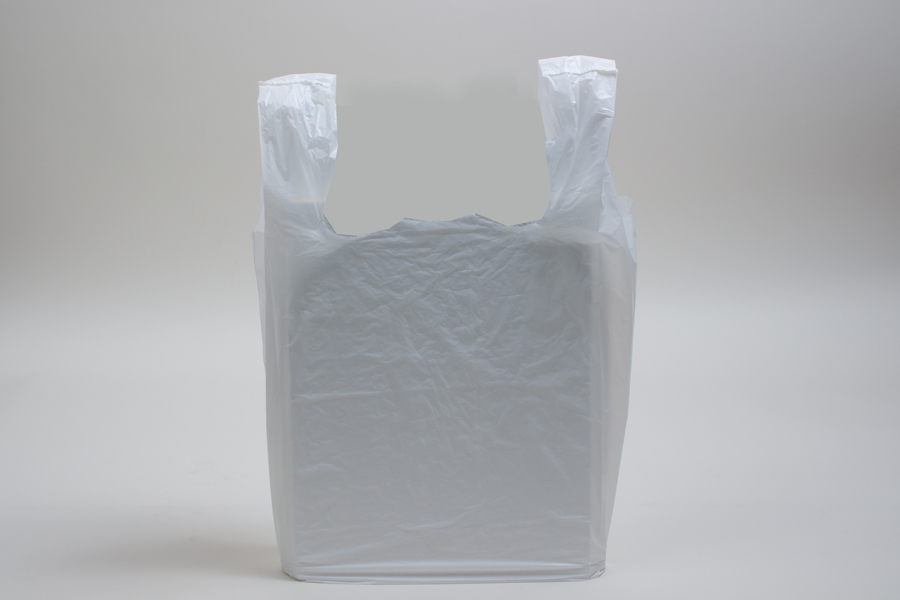 12 x 7 x 22 WHITE HIGH DENSITY PLASTIC T-SHIRT BAGS