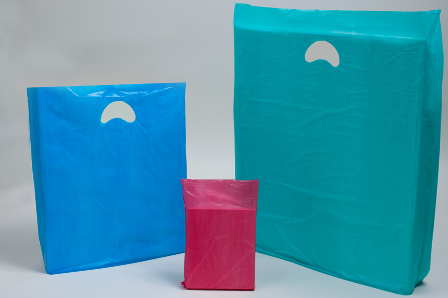 Economy Plastic Shopping Bags - Colors