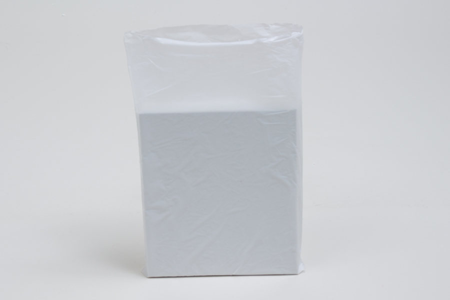6.5 x 9.5 WHITE SATIN HIGH DENSITY PLASTIC BAGS