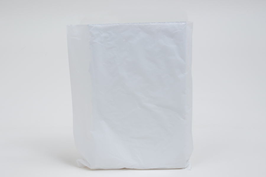 8.5 x 11 WHITE SATIN HIGH DENSITY PLASTIC BAGS