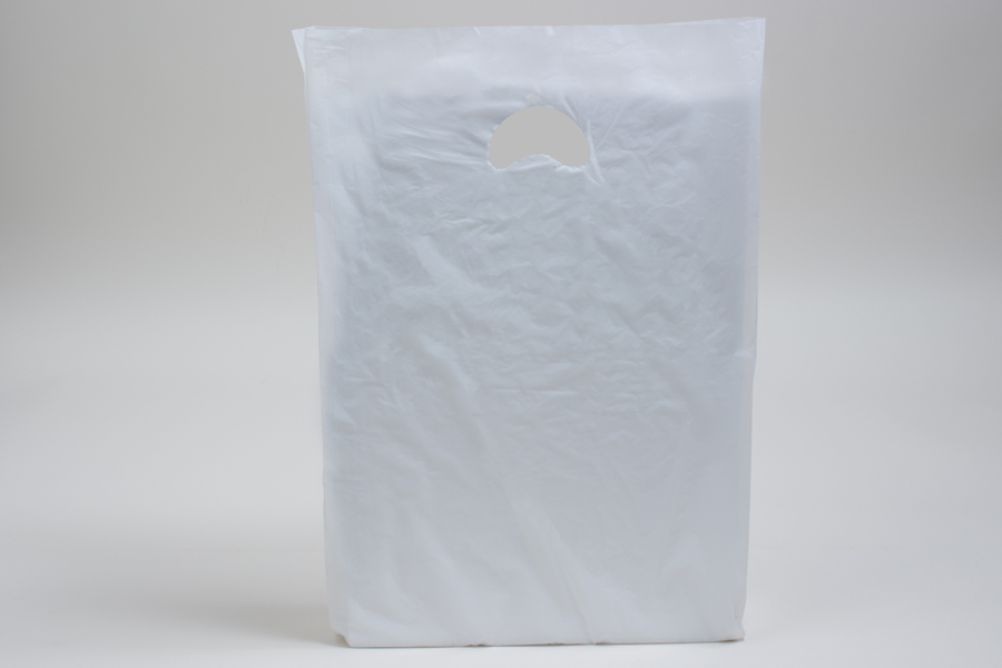 13 x 3 x 21 WHITE SATIN HIGH DENSITY PLASTIC BAGS