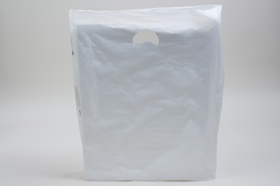 16 x 4 x 24 WHITE SATIN HIGH DENSITY PLASTIC BAGS