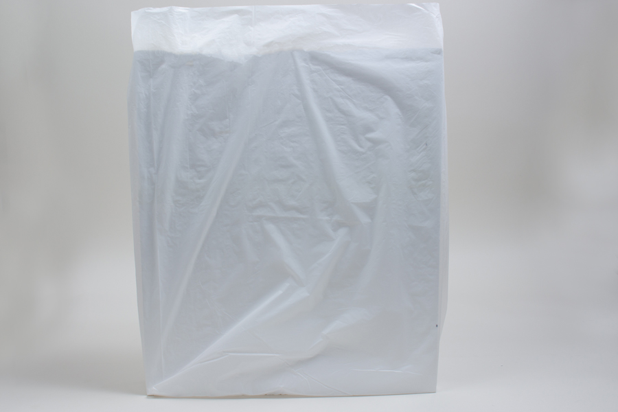 24 x 6 x 36 WHITE SATIN HIGH DENSITY PLASTIC BAGS
