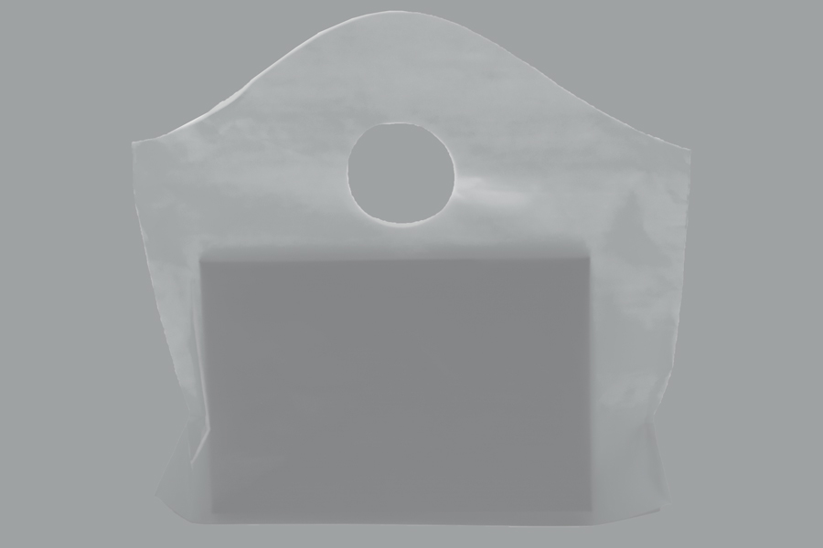 12 x 11 + 4 CLEAR FROSTED WAVETOP PLASTIC BAGS - 2 mil