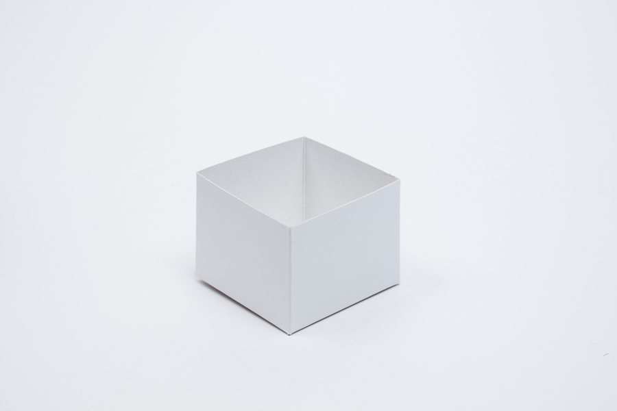 4 x 4 x 3 WHITE GLOSS HI-WALL GIFT BOX BASES *LIDS SOLD SEPARATELY*