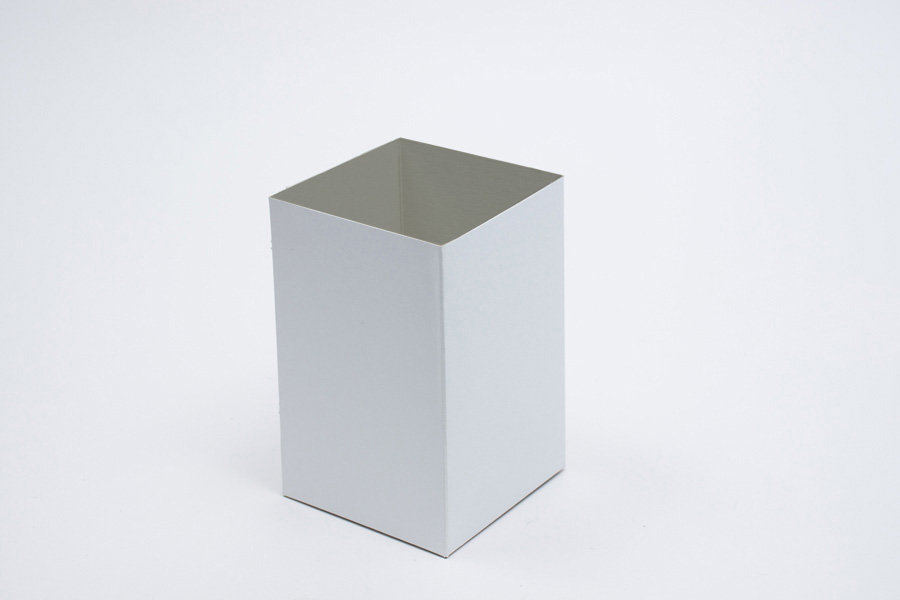 4 x 4 x 6 WHITE GLOSS HI-WALL GIFT BOX BASES *LIDS SOLD SEPARATELY*