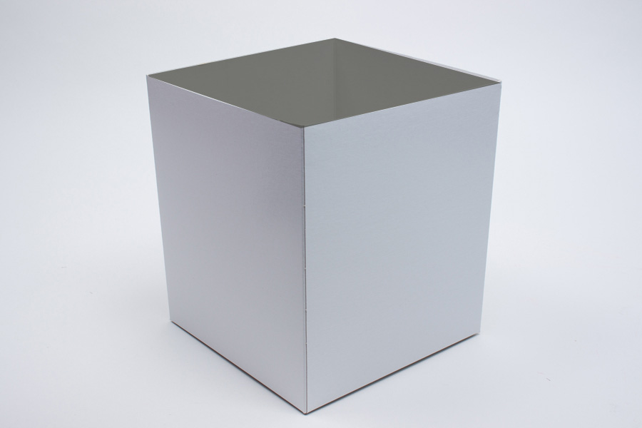 8 x 8 x 9 WHITE GLOSS HI-WALL GIFT BOX BASES *LIDS SOLD SEPARATELY*