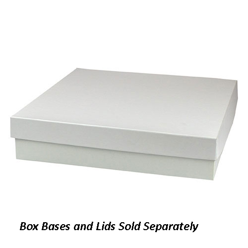 10 x 10 x 3 WHITE GLOSS HI-WALL GIFT BOX BASES *LIDS SOLD SEPARATELY*
