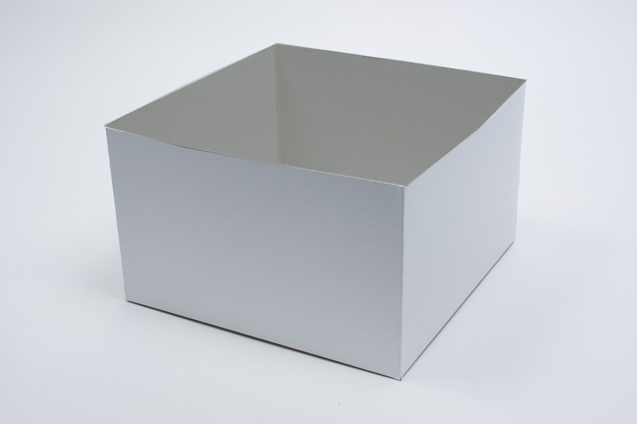 10 x 10 x 12 WHITE GLOSS HI-WALL GIFT BOX BASES *LIDS SOLD SEPARATELY*