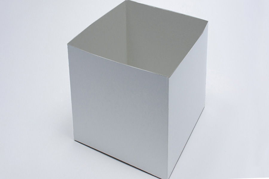 14 x 14 x 12 WHITE GLOSS HI-WALL GIFT BOX BASES *LIDS SOLD SEPARATELY*