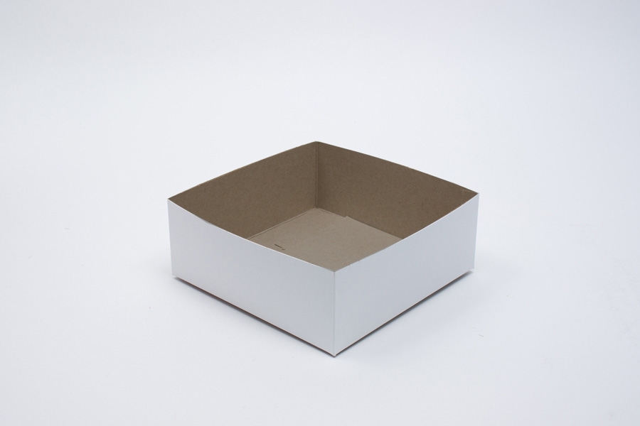 8 x 8 x 3 WHITE GLOSS HI-WALL GIFT BOX BASES *LIDS SOLD SEPARATELY*