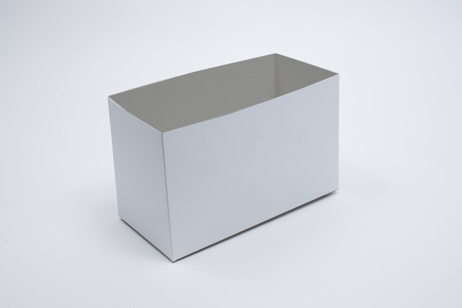 13 x 8 x 6 WHITE GLOSS HI-WALL GIFT BOX BASES *LIDS SOLD SEPARATELY*