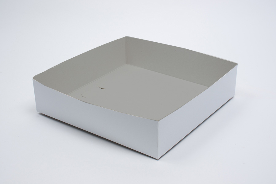 14 x 14 x 3 WHITE GLOSS HI-WALL GIFT BOX BASES *LIDS SOLD SEPARATELY*