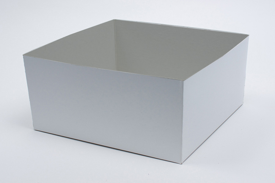 14 x 14 x 6 WHITE GLOSS HI-WALL GIFT BOX BASES *LIDS SOLD SEPARATELY*
