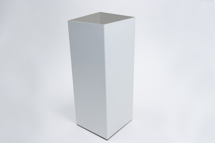 6 x 6 x 12 WHITE GLOSS HI-WALL GIFT BOX BASES *LIDS SOLD SEPARATELY*