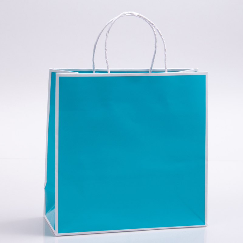 7 x 3 x 7 TURQUOISE PAPER SHOPPING BAGS