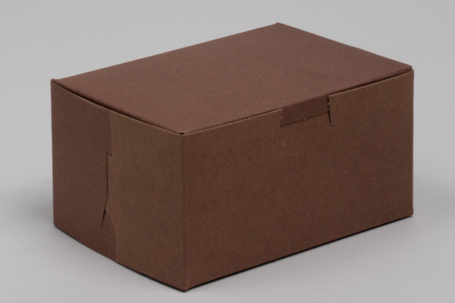 5-1/2 x 4 x 2-7/8 CHOCOLATE ONE-PIECE BAKERY BOXES
