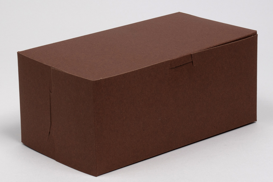 8 x 5-1/2 x 4 CHOCOLATE ONE-PIECE BAKERY BOXES