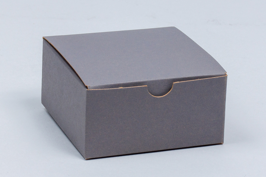 4 x 4 x 2 SLATE GRAY TUCK-TOP GIFT BOXES