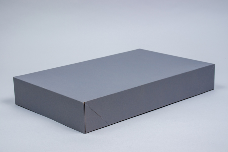 11.5 x 8.5 x 1.6 SLATE GRAY APPAREL BOX