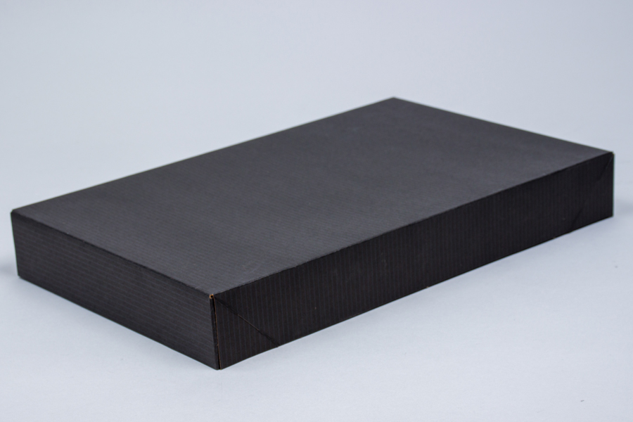 19 x 12 x 3 BLACK PINSTRIPE APPAREL BOX